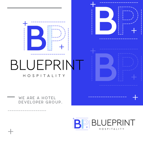 P logo with the title 'BluePrint'
