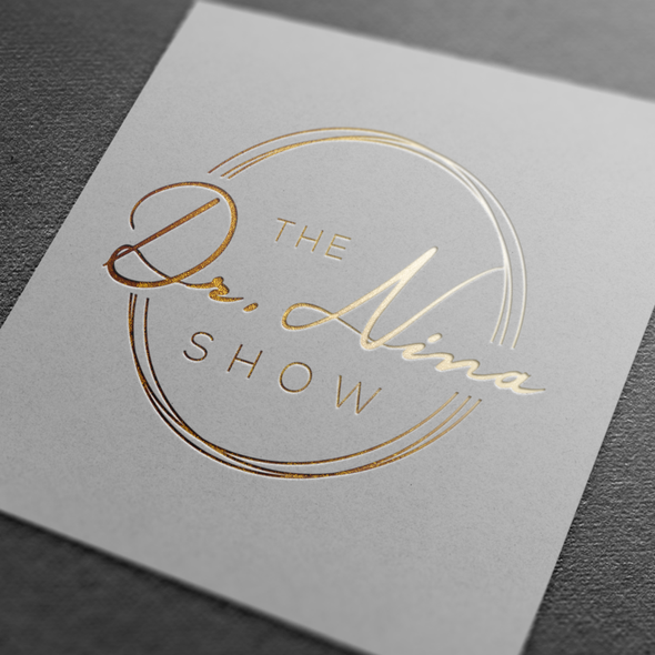 Circle design with the title 'Logo for a radio show'