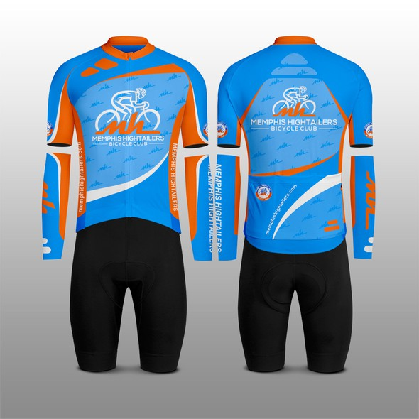 Kit design with the title 'Memphis Hightailers Bicycle Club'