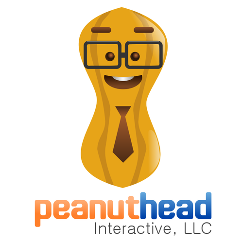 Peanut design with the title 'Help Peanuthead Interactive, LLC with a new logo'