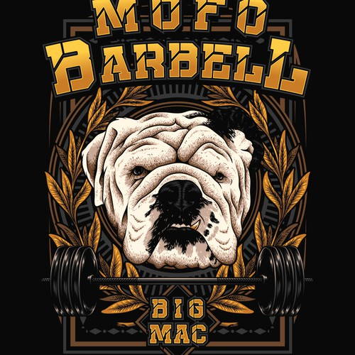 Barbell design with the title 'Mofo Barbell'
