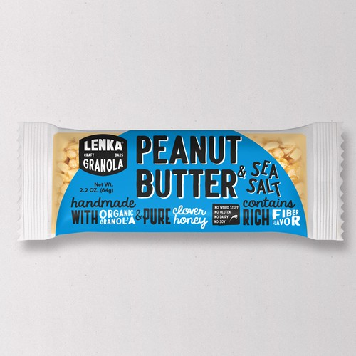 Granola packaging with the title 'Granola Bars'