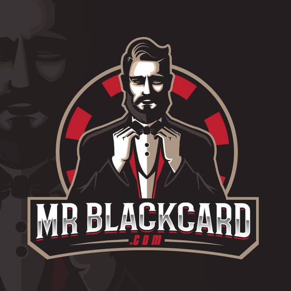 Poker chip design with the title 'Mr Blackcard'