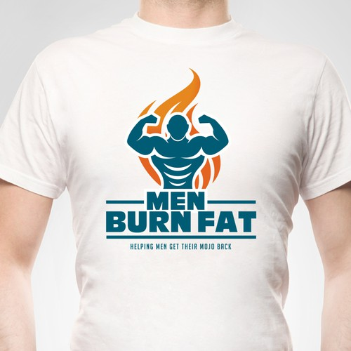 Fat design with the title 'Men Burn Fat'
