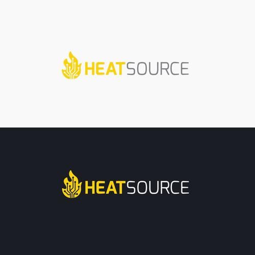 Heat logo with the title 'HEATSOURCE Logo'