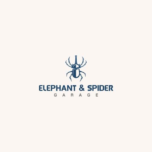 Garage design with the title 'Elephant spider garage'