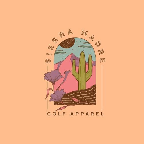 Desert logo with the title 'Logo Sierra Madre'