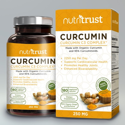 Nutritional supplement packaging with the title 'label design'