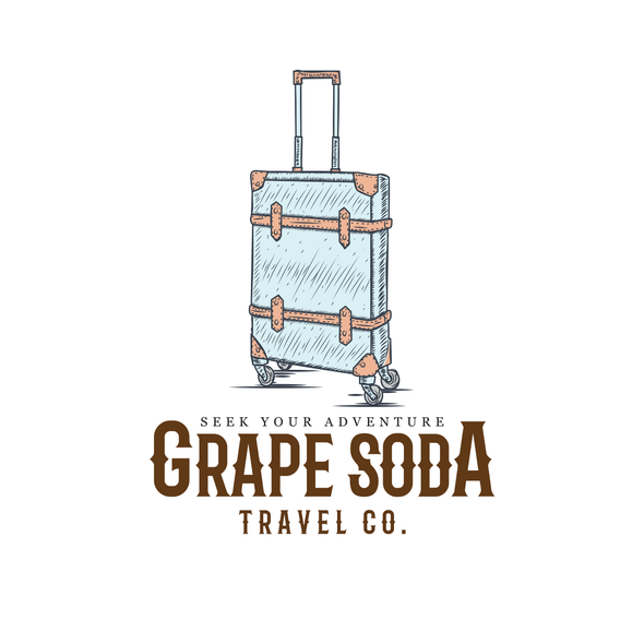 Soda design with the title 'Vintage Travel Logo with a Nod to Disney'
