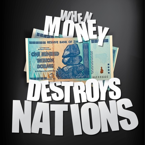 Political book cover with the title 'When Money Destroys Nations'