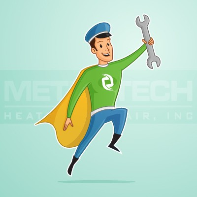Wrench design with the title 'Superhero HandyMan'