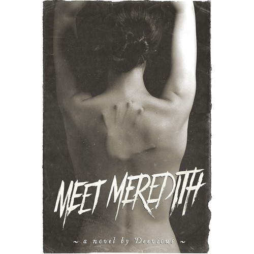 "Horror book cover with the title 'Book cover for ""Meet Meredith""'"