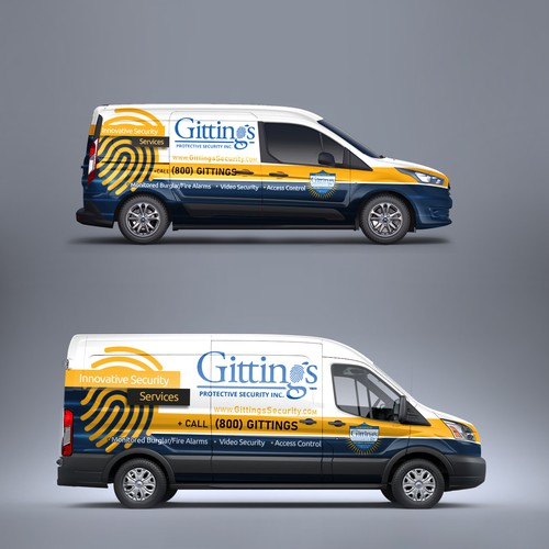 Ford design with the title 'Security Van Wrap'