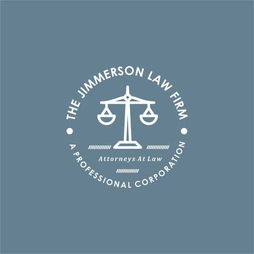 Measurement logo with the title 'monoline logo for law firm'