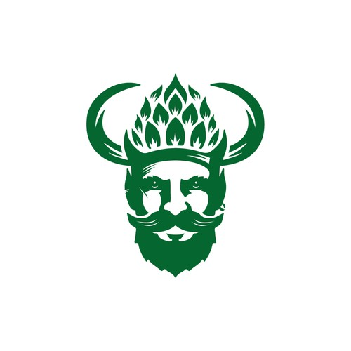 Elf logo with the title 'Viking_Beard_Hops_Brewery Logo'