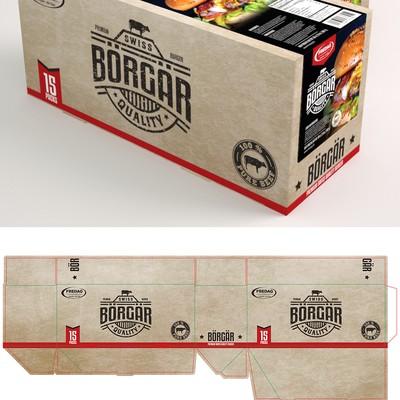 Packaging for Borgar