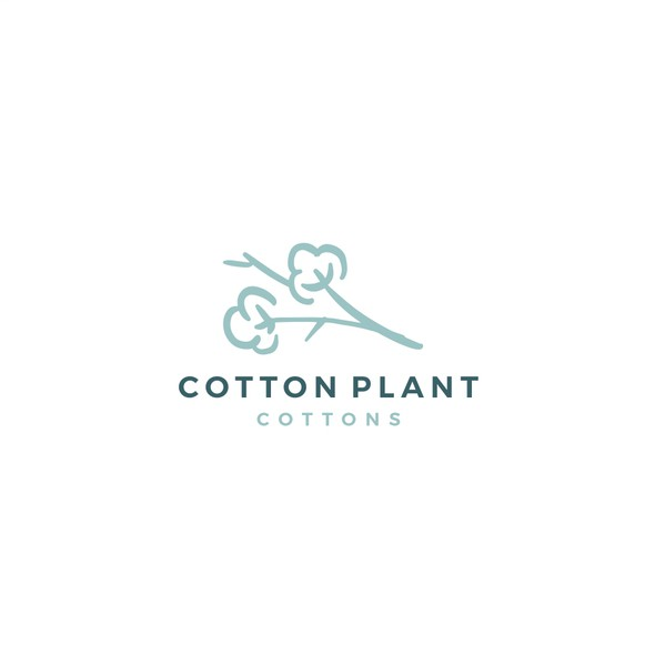 Garment design with the title 'cotton logo'