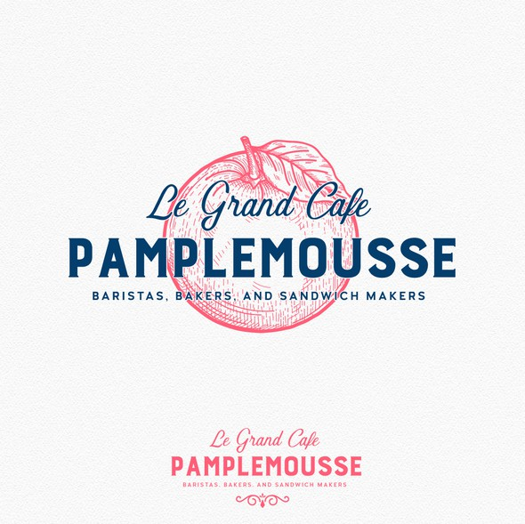 French cafe logo with the title 'Logo design'