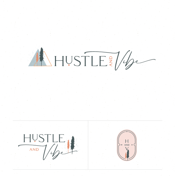 Earthy design with the title 'Hustle and vibe'