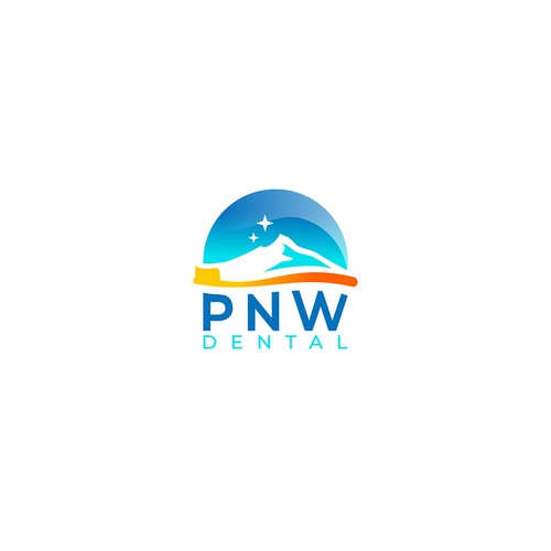 Toothbrush design with the title 'PNW dental logo'