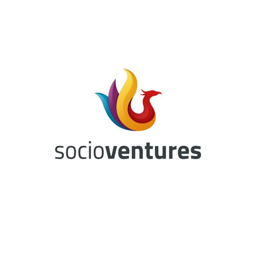 3D brand with the title 'Colorful and futuristic looking logo for start-up ideas incubator'