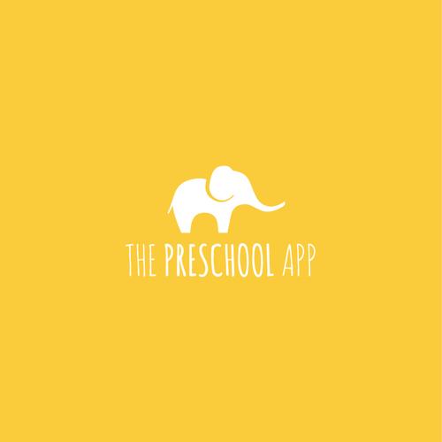 Elephant head logo with the title 'Baby Elephant Logo'