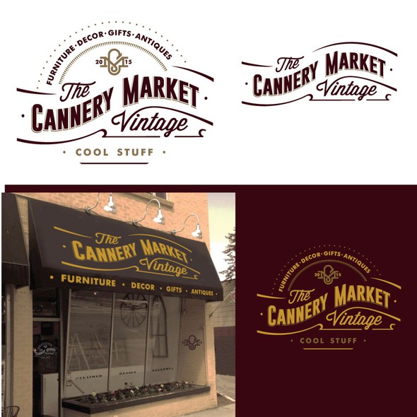 Antique design with the title 'Cannnery market'