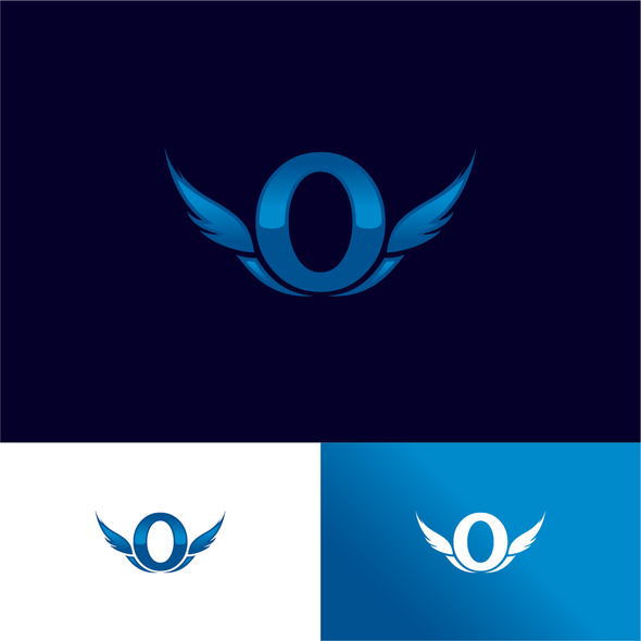 Aircraft logo with the title 'Logo for private jet, initial letter O'