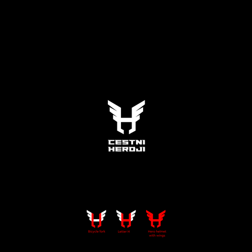 Hero logo with the title 'Iconic  logo for bicycle squad'