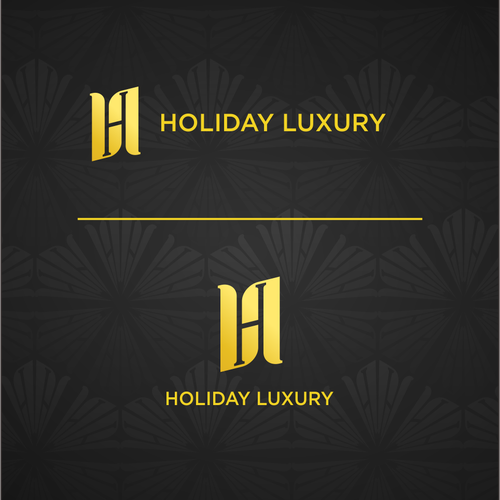 Luxe logo with the title 'holiday luxury logo'