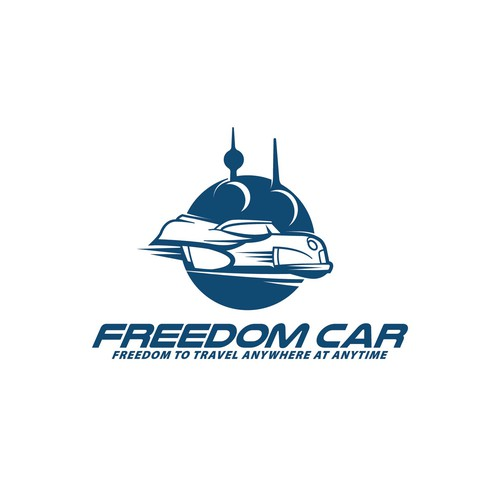 Skyscraper logo with the title 'Freedom car'
