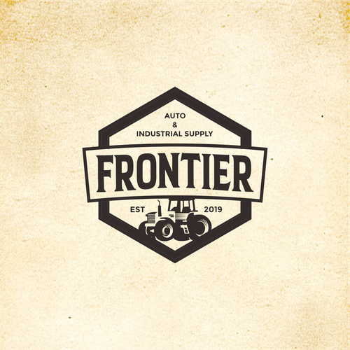 Tractor logo with the title 'FRONTIER Auto & Industrial Supply'
