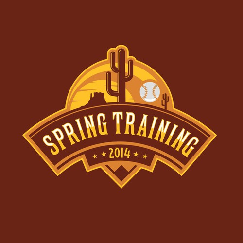 Desert logo with the title 'Spring Training'