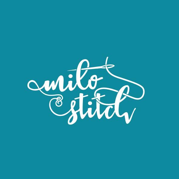 Stitching logo with the title 'milo & Stitch'
