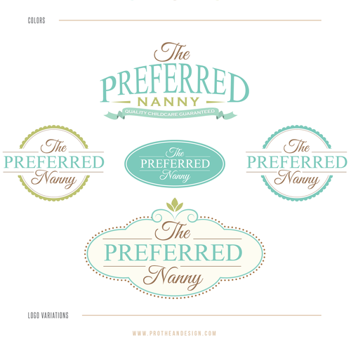 Childcare logo with the title 'The Preferred Nanny'