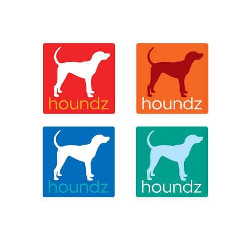 Hound logo with the title 'Box Concept 1 for Houndz Logo'