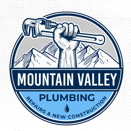 Valley logo with the title 'Mountain Valley Plumbing'