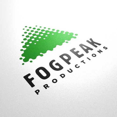 Multimedia design with the title 'Logo for Fog Peak Productions'