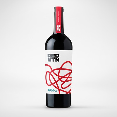 Red MTN Wine Label