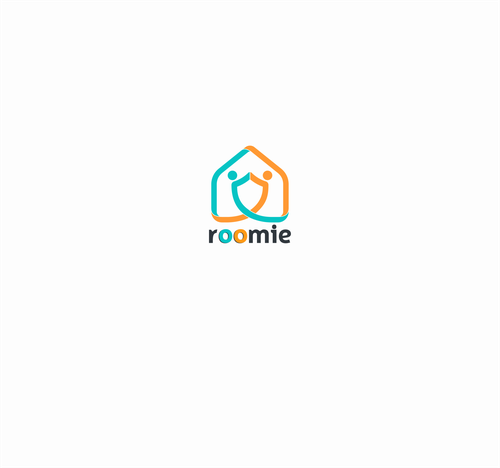 House logo with the title 'Get a Roomie! Create a logo for Roomie (Housing Community for ExchangeStudents)'