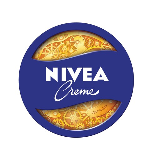 Steampunk illustration with the title 'Nivea Cream Anniversary'