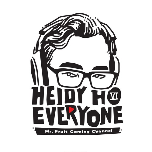 Retro t-shirt with the title 'HEIDY HO EVERYONE.. Mr Fruit channel..'