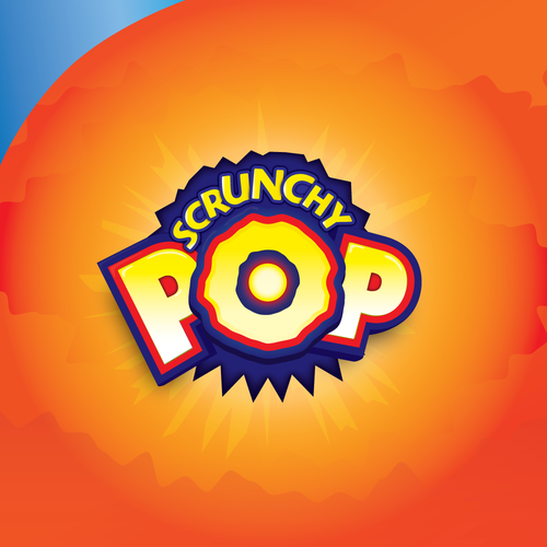 Chip logo with the title 'Popping Logo for Scrunchy POP'