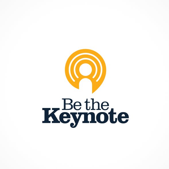 Speaker logo with the title 'Be the Keynote - Logo design'