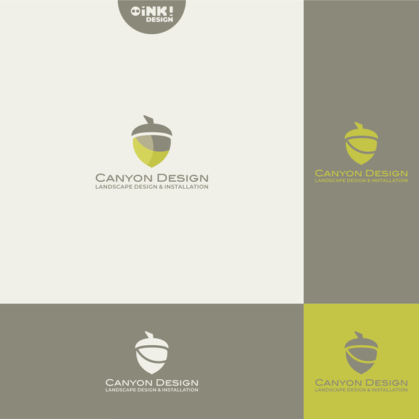 Landscaping brand with the title 'Canyon Design'