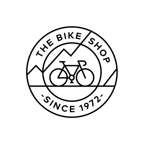 Bike brand with the title 'logo concept for bike shop in canada'