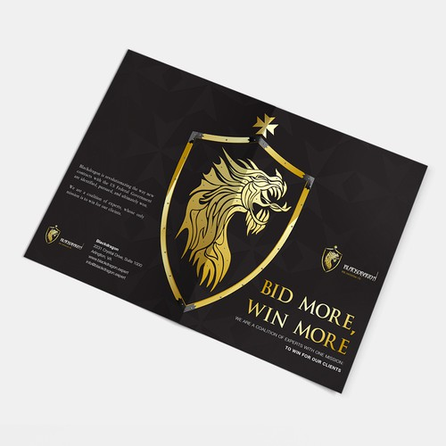 Gold and black design with the title 'Flyer Design'