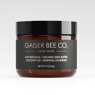 Raw Beeswax Hand Salve Label Design Concept