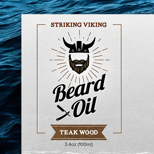 Sharing design with the title 'Label Design for Beard Oil '