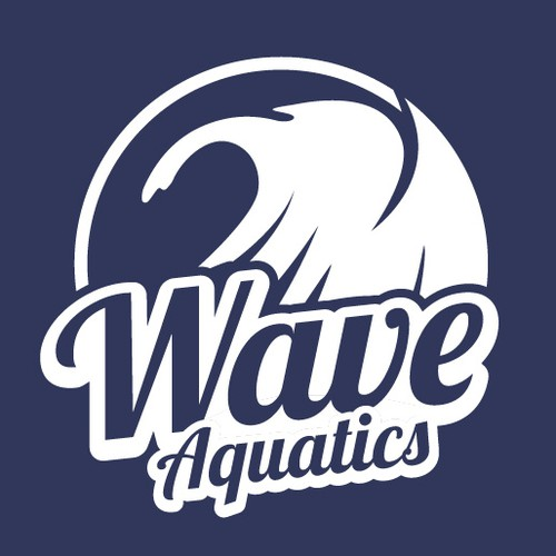 Swimming logo with the title 'A logo for aquatics programs for a competitive swim team'